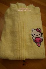 Baby bathrobe with Hello Kitty Ballerina embroidery design