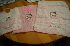 Newborn set with Hello Kitty Cupid embroidery design