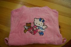 Bathrobe with Hello Kitty Snow Angel embroidery design