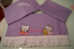 Newborn set with Hello Kitty embroidery designs