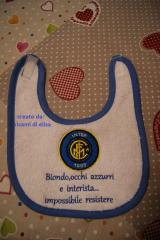 baby bib with Inter Football Club embroidery design