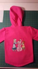 Hoodie with Making snowman embroidery design