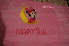 Napkin with Minnie Mouse and moon embroidery design