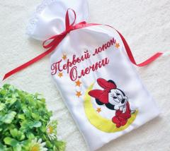 Small bag with Minnie Mouse and moon embroidery design