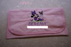 Soft envelope with Minnie Mouse with butterfly embroidery design