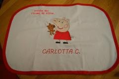 Baby bib with Peppa Pig with Toy embroidery design