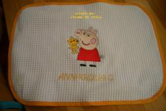 Napkin with Peppa Pig with Toy embroidery design
