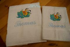 Towel with Pluto with soft toy embroidery design