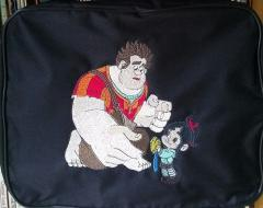 Bag with Ralph and Vanellope von Schweetz embroidery design