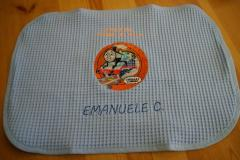 Napkin with Thomas the Tank Engine embroidery design