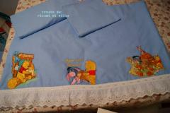 Baby napkins with Winnie Pooh and Friends embroidery design