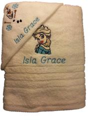 Towel with Wonderful Elsa embroidery design