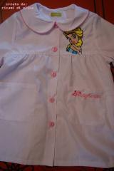 Dress with wonderful Elsa embroidery design