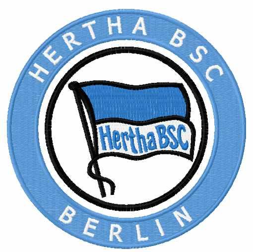 Hertha BSC logo embroidery design