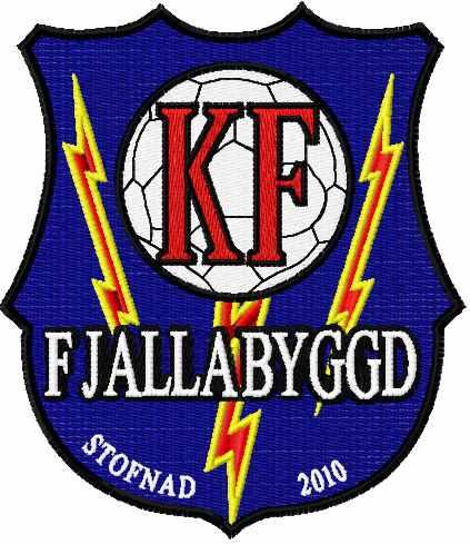 Knattspyrnufélag Fjallabyggðar embroidery logo