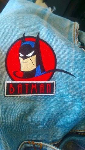Finished Batman vintage embroidery design