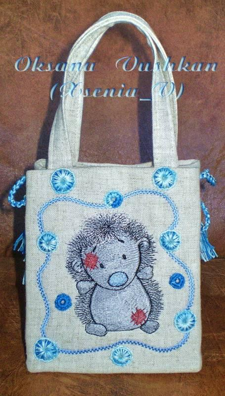Hanbag with Konker embroidery design