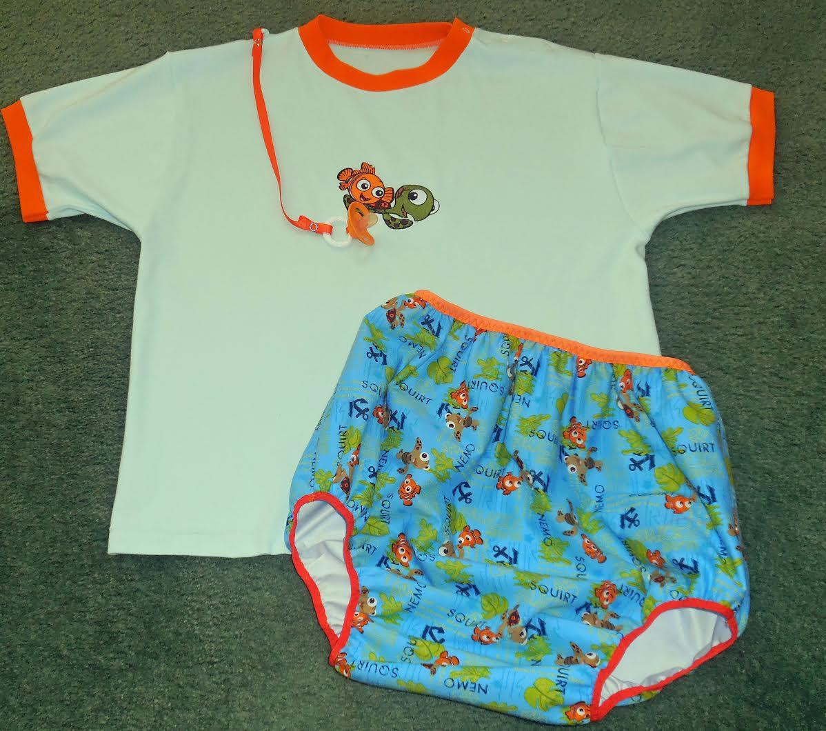 Baby outfit with Nemo and Squirt embroidery design