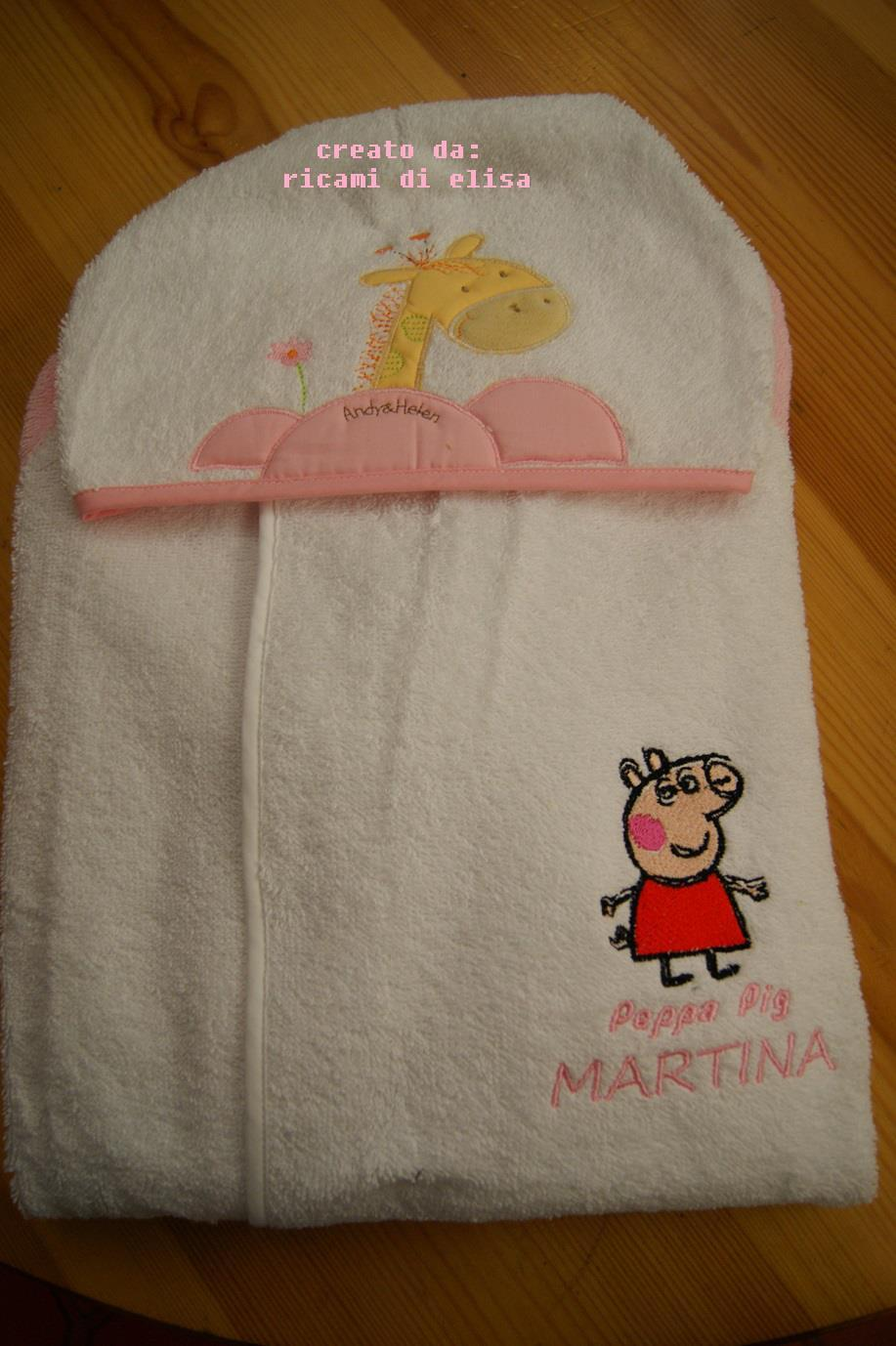 Baby envelope with Peppa Pig embroidery design