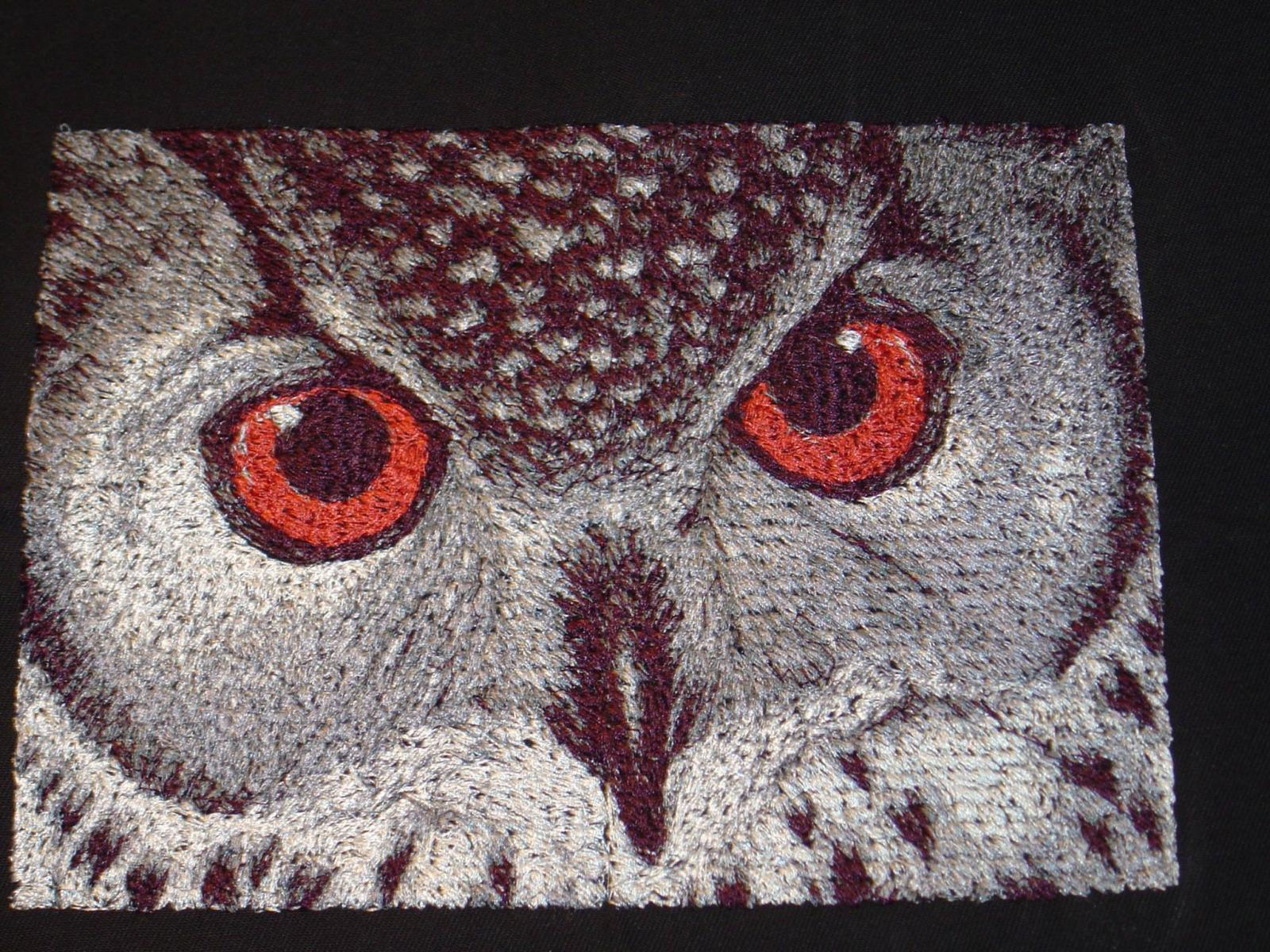 Owl photo stitch free embroidery design