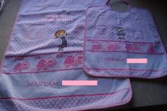 Towel and napkin with Doc McStuffins embroidery design