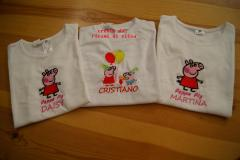 Baby shirts with Peppa Pig embroidery designs