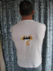 Men's shirt with Batman question mark embroidery design