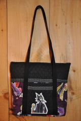 Bag with Maleficent embroidery design