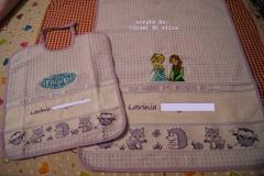 Newborn set with Elsa and Anna embroidery design