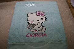 Napkin with Hello Kitty Angel embroidery design