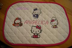Baby napkins with Hello Kitty embroidery collection