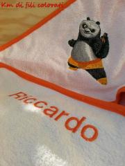 Napkin with Panda embroidery design
