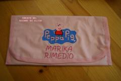 Napkin with Peppa Pig embroidery design