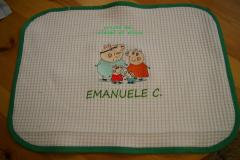 Napkin with Peppa Pig with mum dad and George embroidery design