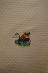 Napkin with Tigger and Eeyore embroidery design