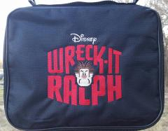Travel bag Wreck It Ralph logo embroidery design