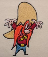 Yosemite Sam embroidery design