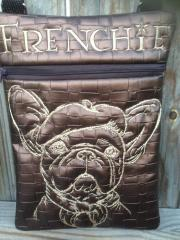 Bag with bulldog free embroidery design