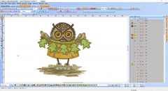 Christmas Owl embroidery design preview