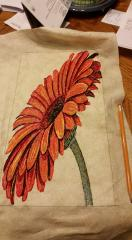 Gerbera photo stitch free embroidery
