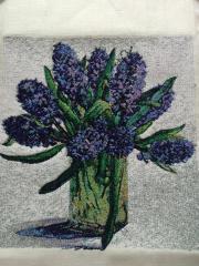 Hyacinths photo stitch free embroidery