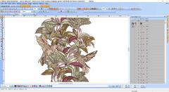 Lily decoration embroidery design preview