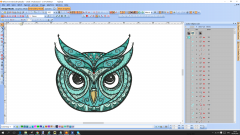 Mosaic Owl embroidery design preview