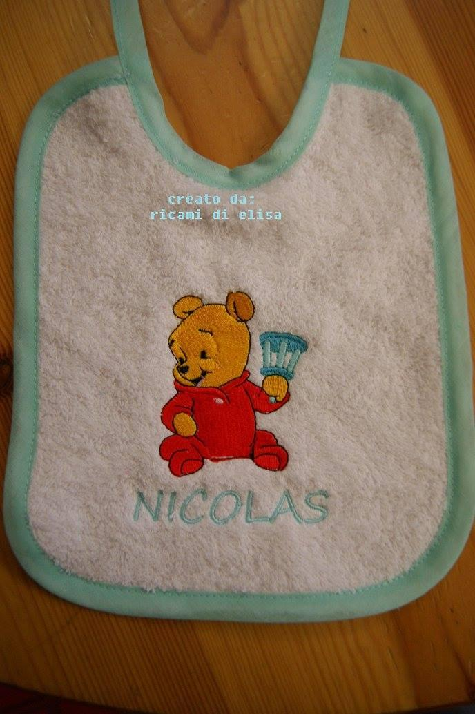 Bib with Baby Pooh embroidery design
