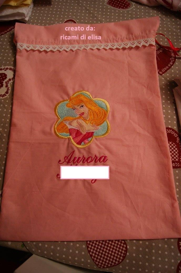 Bag with Aurora embroidery design