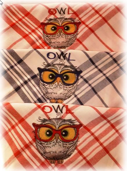 Towels with Funny wise owl embroidery design