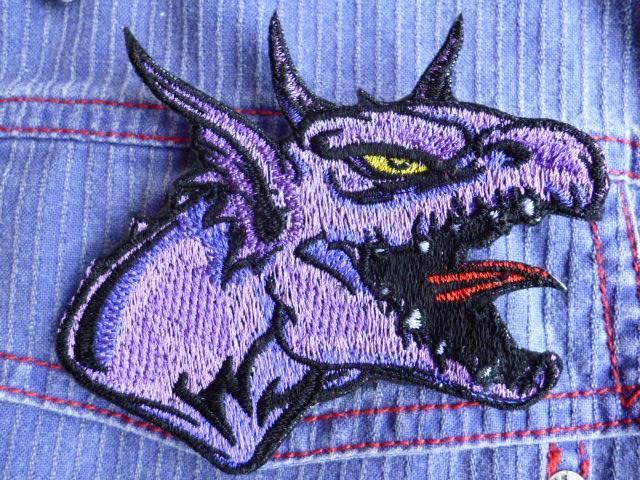 Angry dragon embroidery design