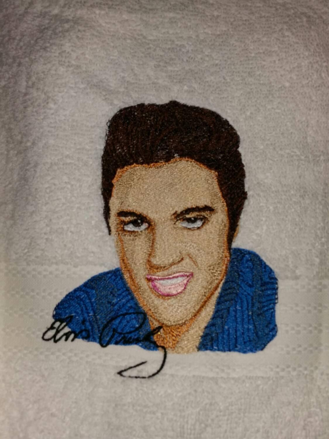 Elvis Presley embroidery design