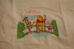 Winnie Pooh Tigger and Piglet on the bridge embroidery design