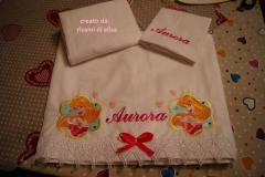 Newborn gift with  Aurora embroidery design